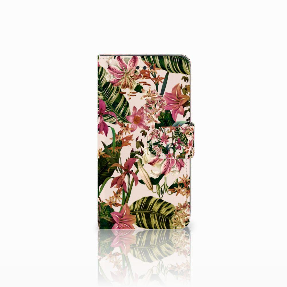 Samsung Galaxy J2 Pro 2018 Uniek Boekhoesje Flowers