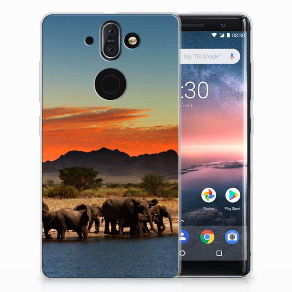Nokia 9 | 8 Sirocco TPU Hoesje Design Olifanten