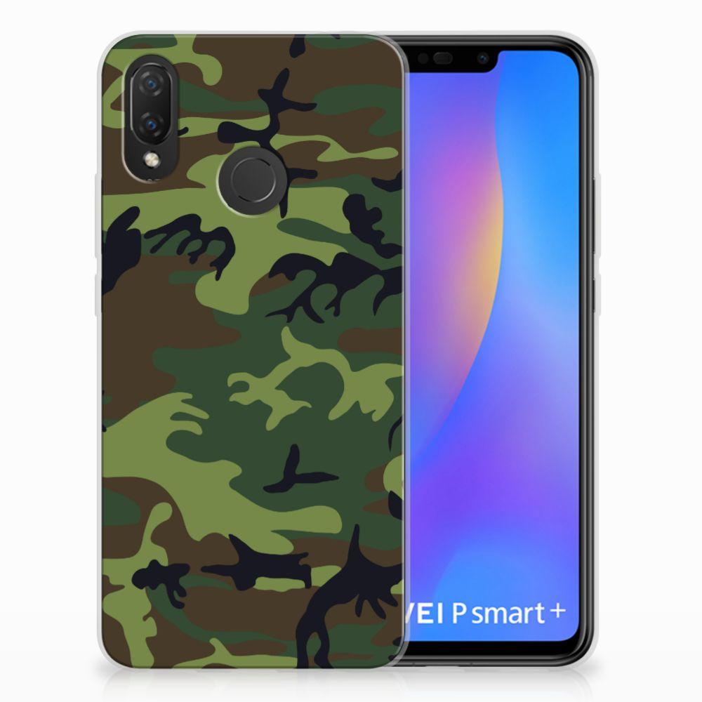 Huawei P Smart Plus TPU Hoesje Design Army Dark