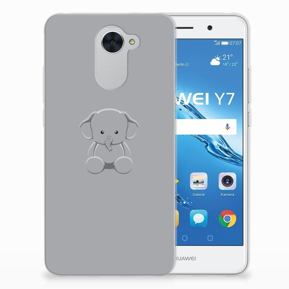 Huawei Y7 (2017) | Y7 Prime (2017) Uniek TPU Hoesje Baby Olifant