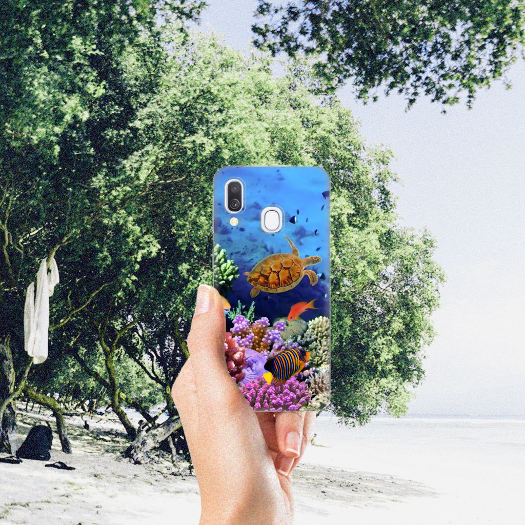 Samsung Galaxy A40 TPU Hoesje Vissen