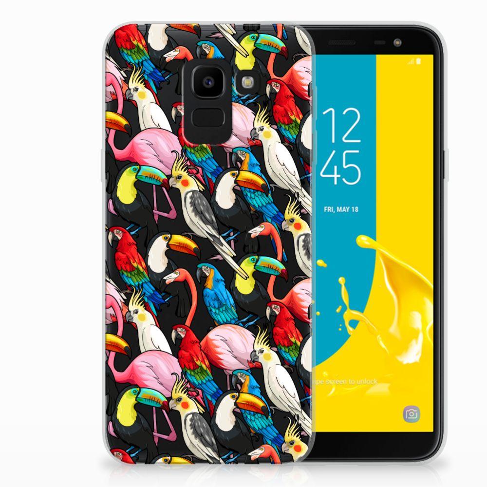 Samsung Galaxy J6 2018 Uniek TPU Hoesje Birds