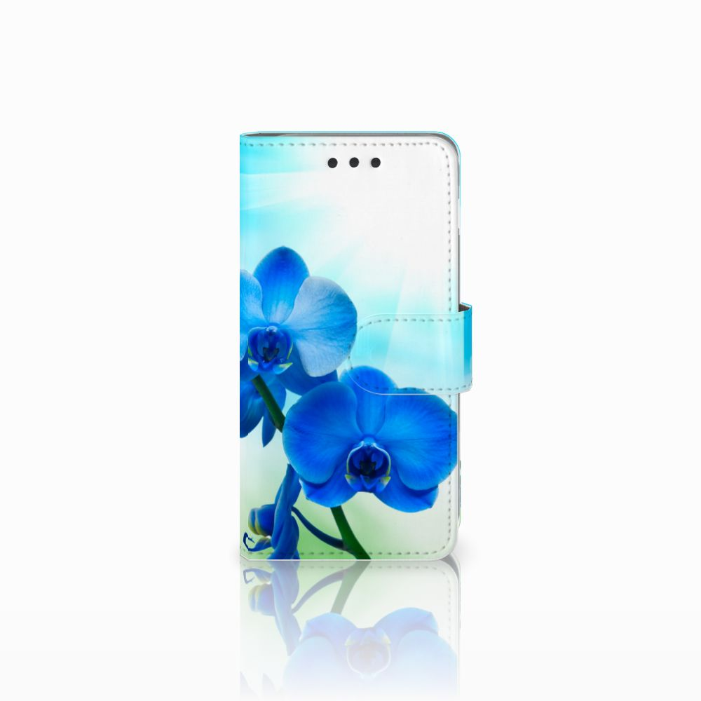 Samsung Galaxy A3 2016 Boekhoesje Design Orchidee Blauw