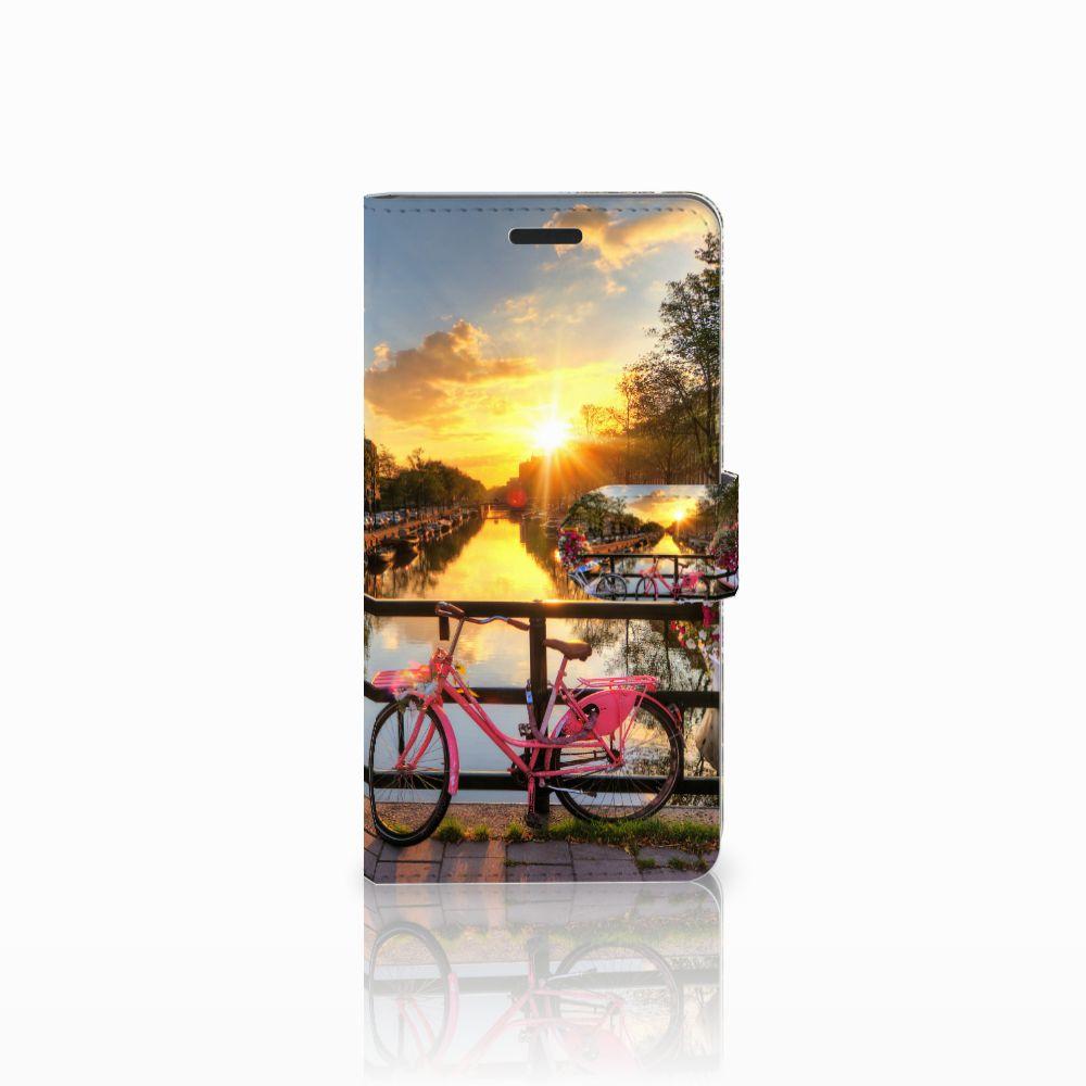 Samsung Galaxy A7 2015 Uniek Boekhoesje Amsterdamse Grachten