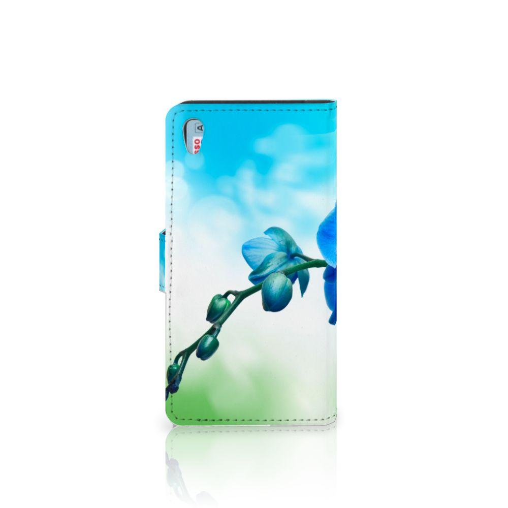 Sony Xperia Z5 | Z5 Dual Hoesje Orchidee Blauw