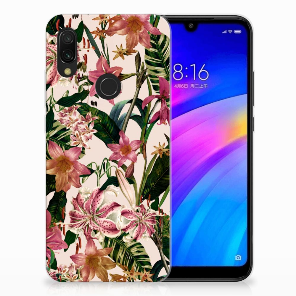 Xiaomi Redmi 7 TPU Case Flowers
