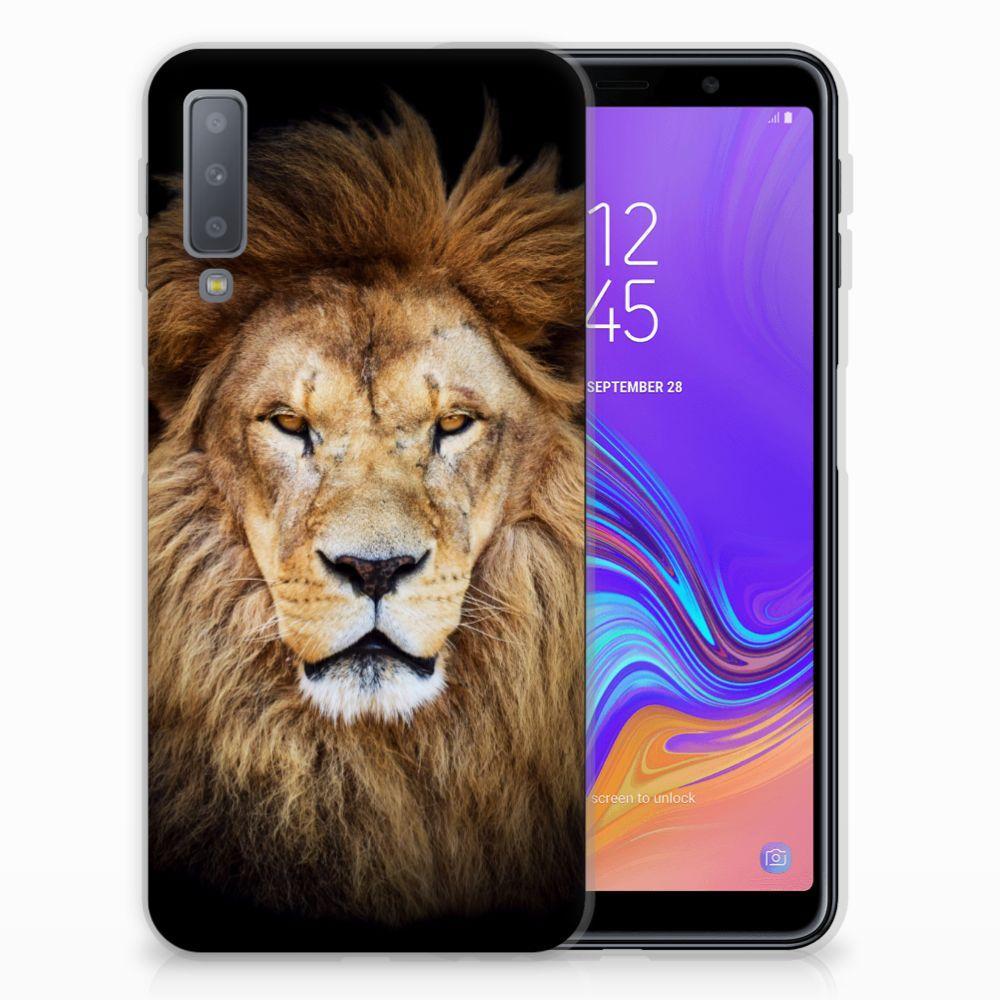 Samsung Galaxy A7 (2018) TPU Hoesje Leeuw