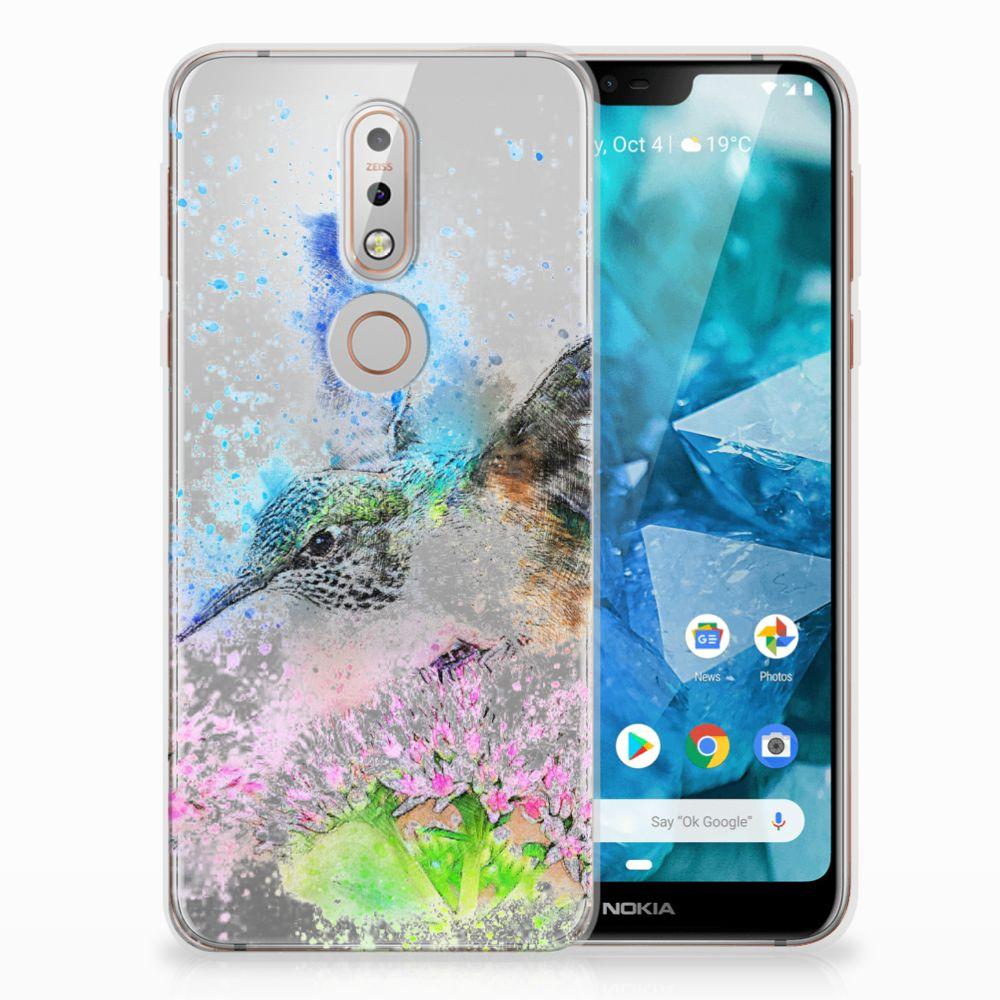 Nokia 7.1 TPU Hoesje Design Vogel