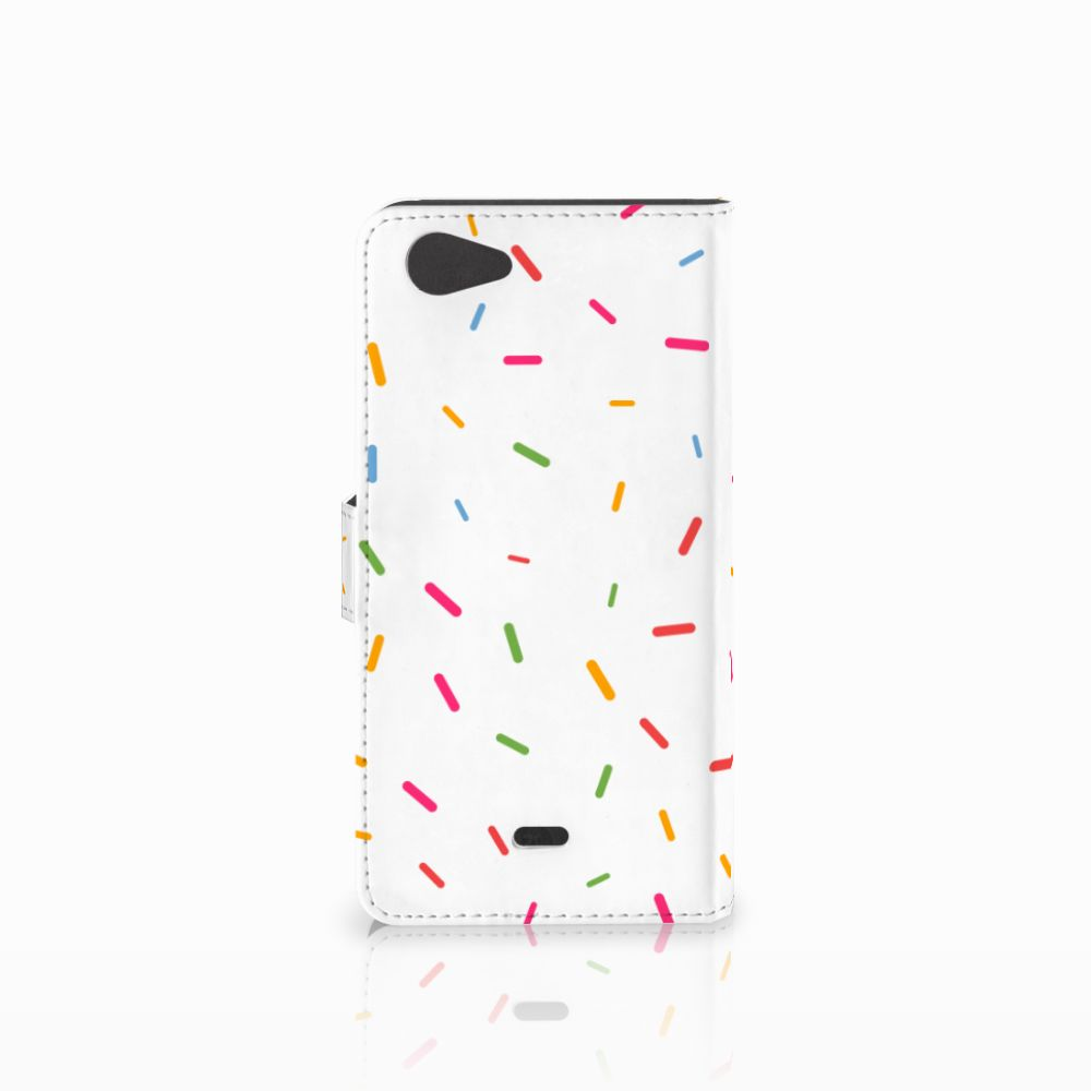 Wiko Pulp Fab 4G Book Cover Donut Roze