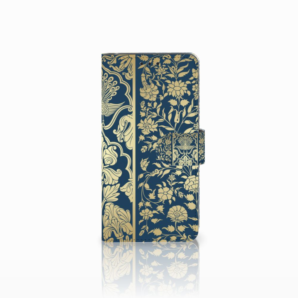 Samsung Galaxy A8 2018 Boekhoesje Golden Flowers