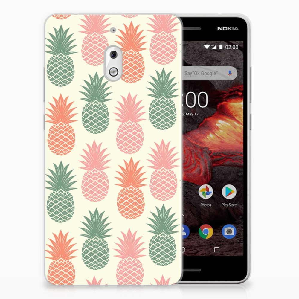 Nokia 2.1 (2018) Siliconen Case Ananas
