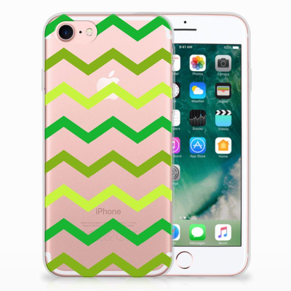 Apple iPhone 7 | 8 Uniek TPU Hoesje Zigzag Groen