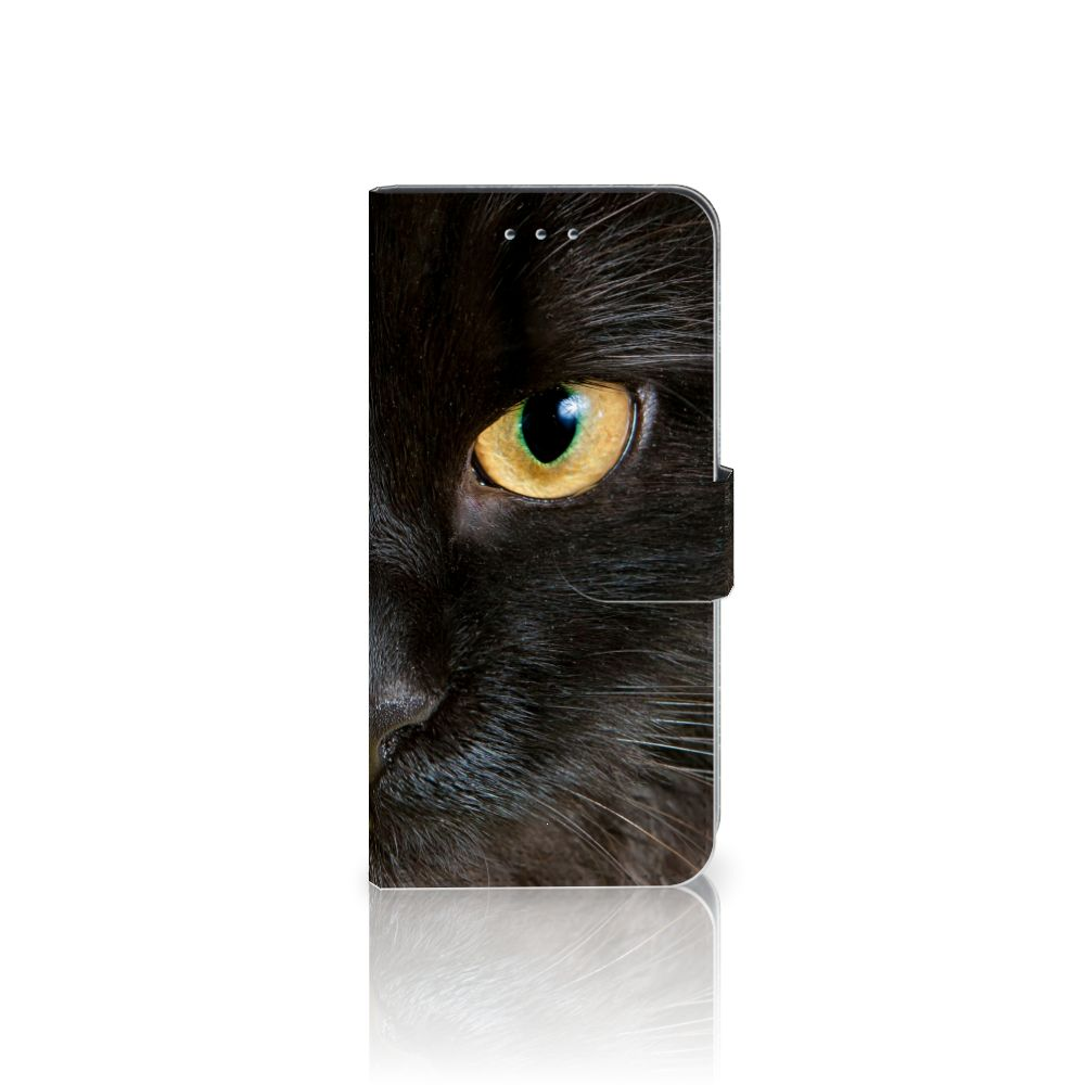 Samsung Galaxy S7 Edge Telefoonhoesje met Pasjes Zwarte Kat