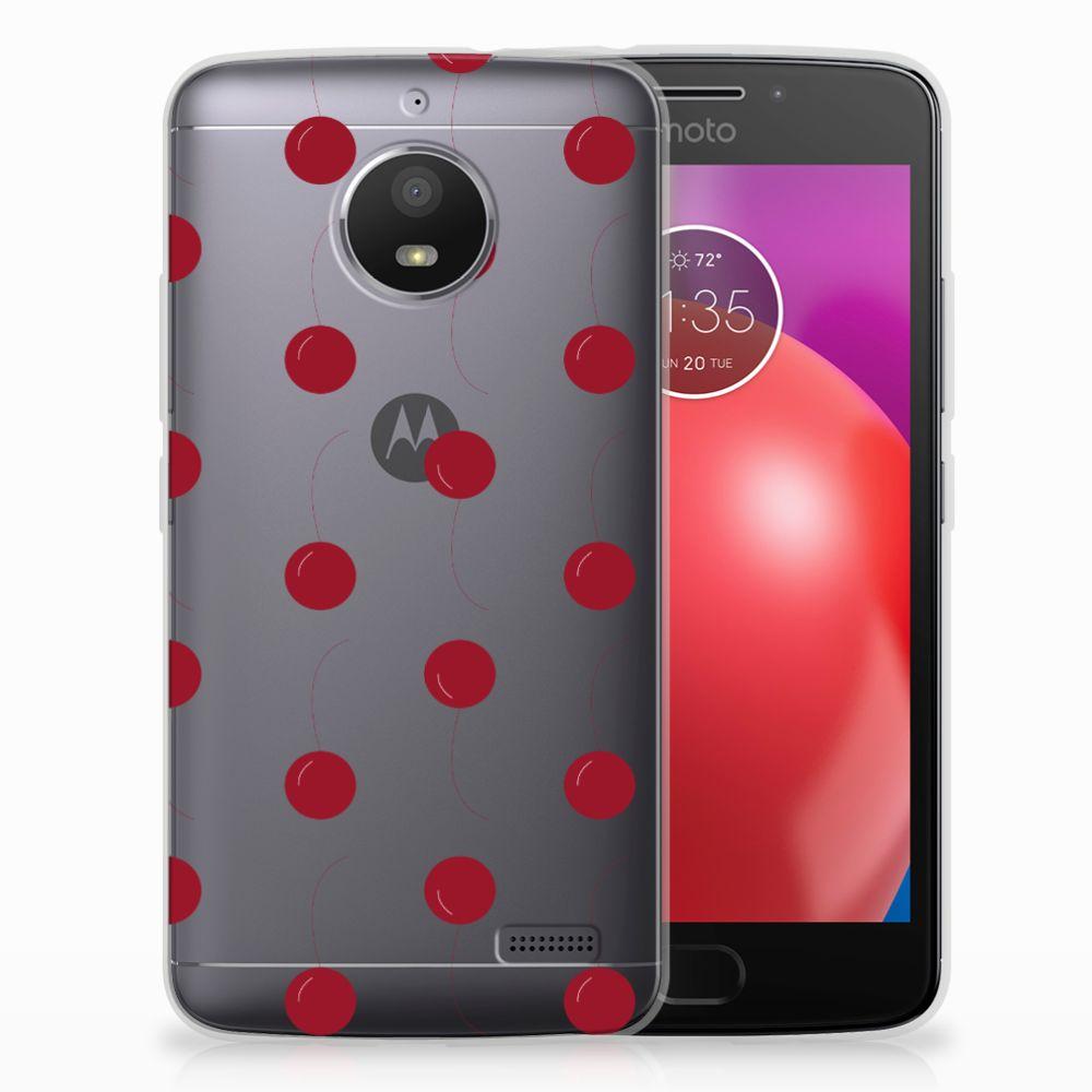 Motorola Moto E4 Siliconen Case Cherries