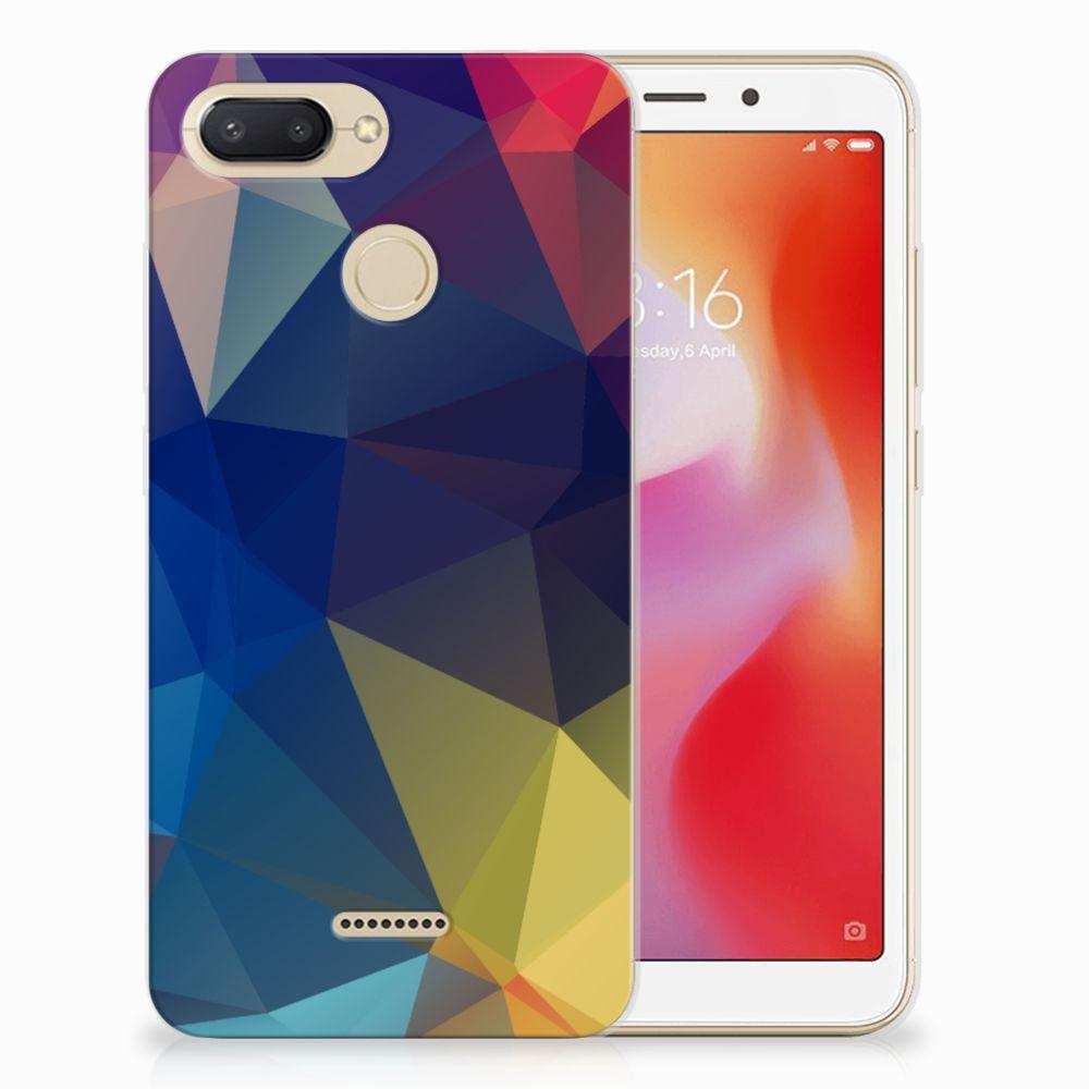 Xiaomi Redmi 6 TPU Hoesje Polygon Dark