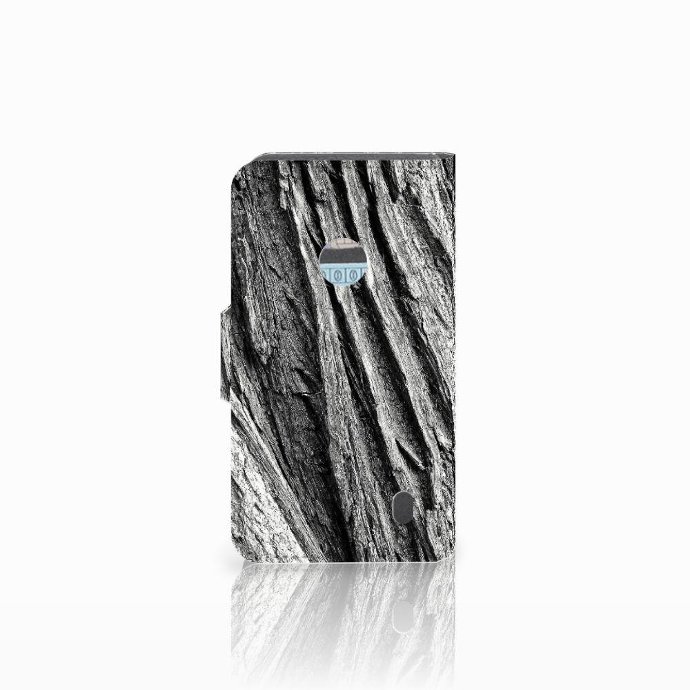 Book Style Case Nokia Lumia 520 Boomschors Grijs