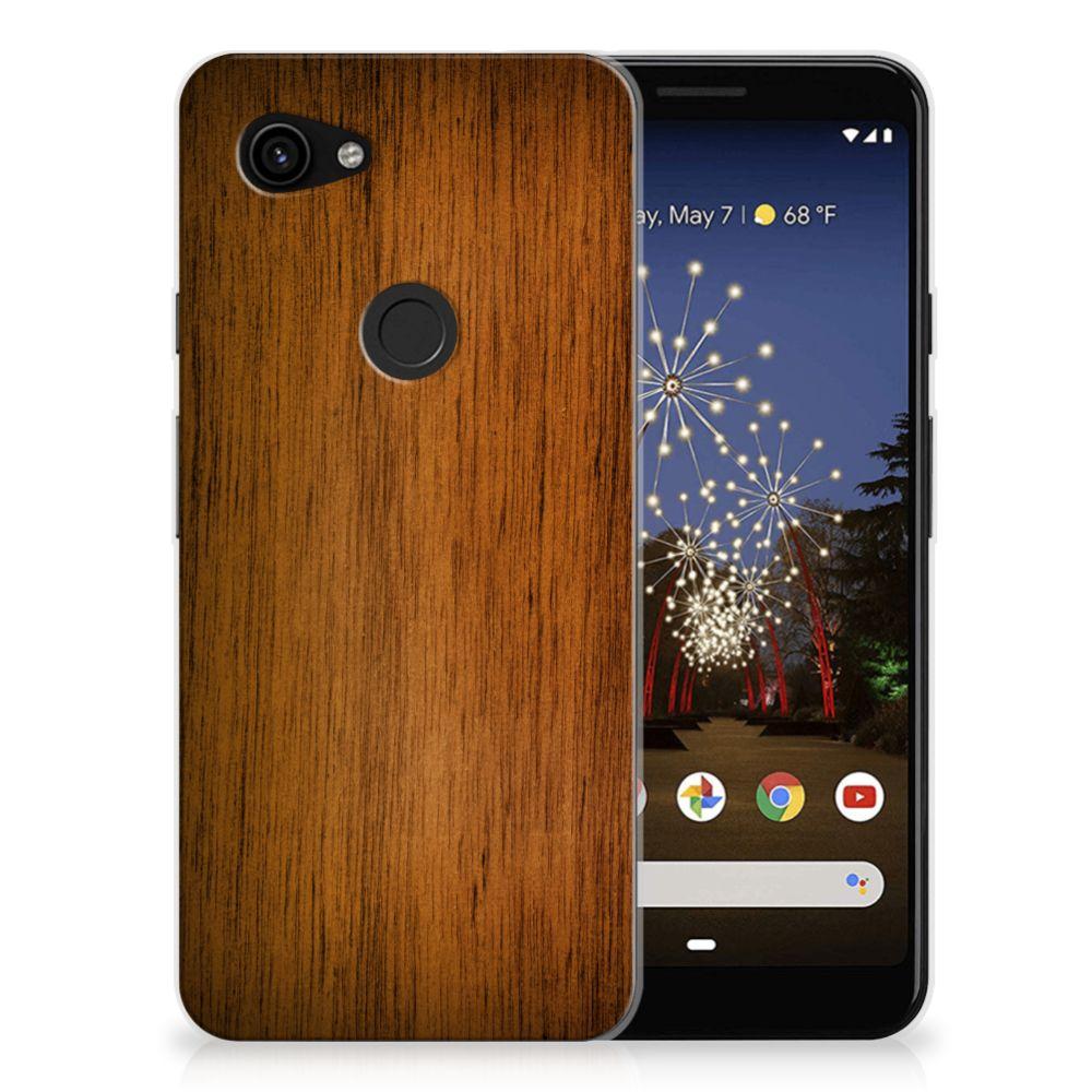 Google Pixel 3A Bumper Hoesje Donker Hout