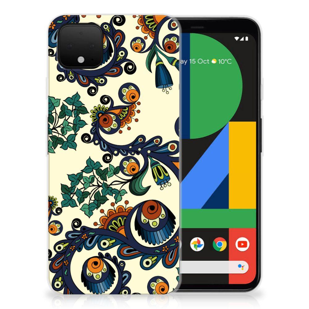 Siliconen Hoesje Google Pixel 4 XL Barok Flower
