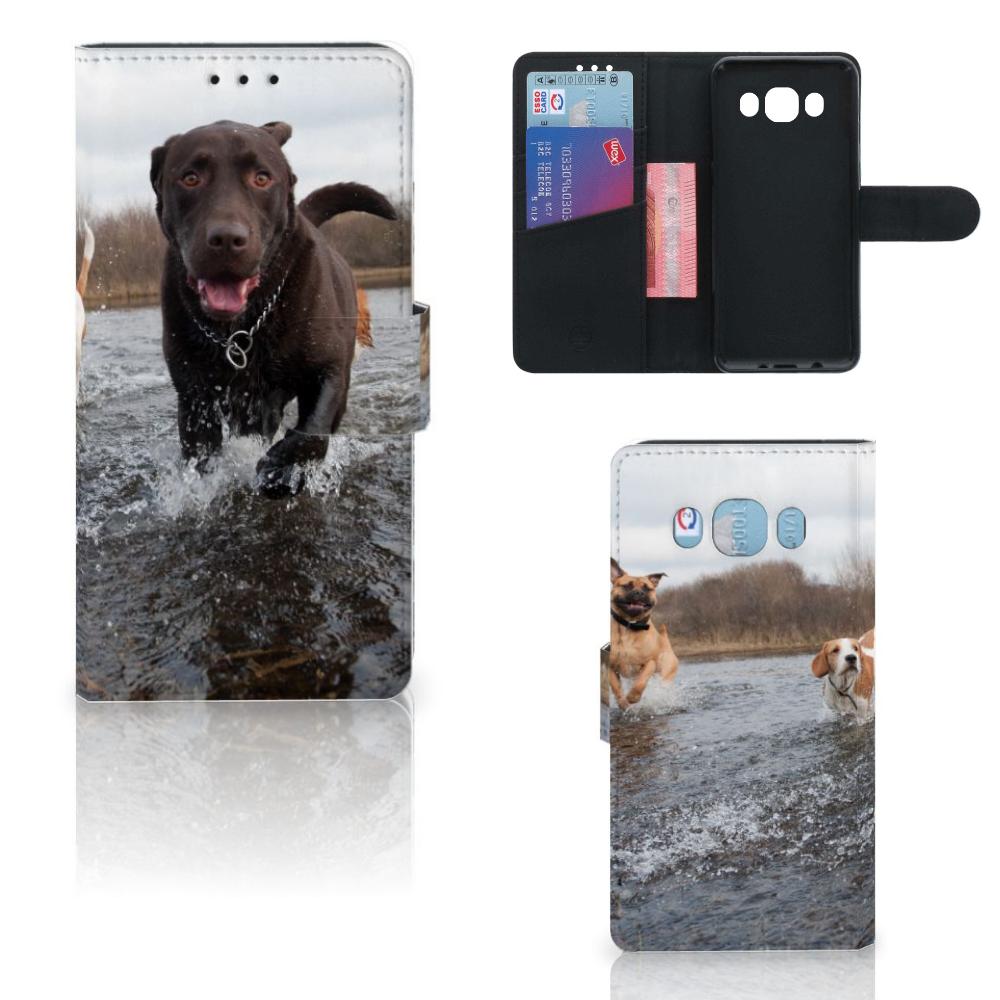 Samsung Galaxy J5 2016 Telefoonhoesje met Pasjes Honden Labrador