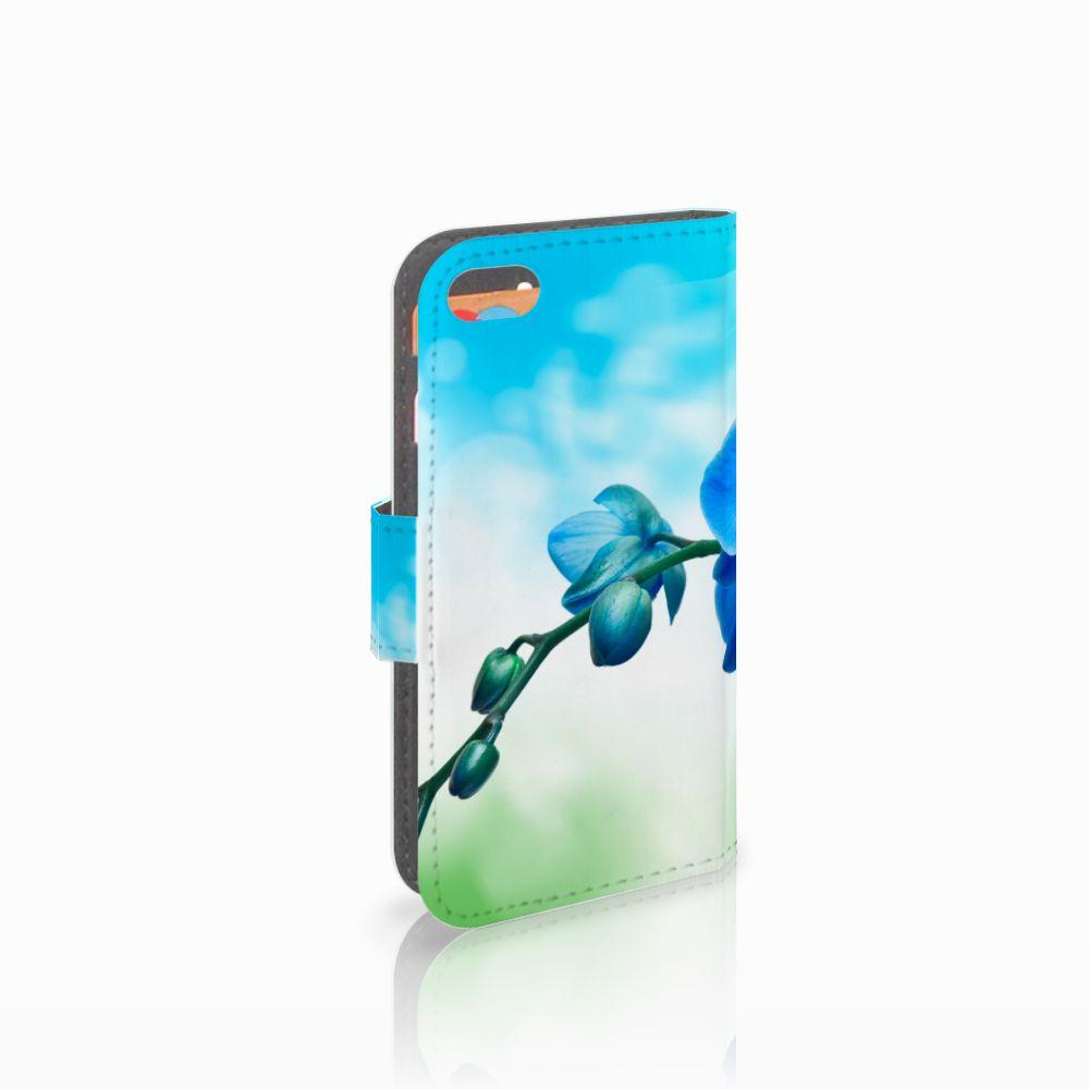 Apple iPhone 5C Boekhoesje Design Orchidee Blauw