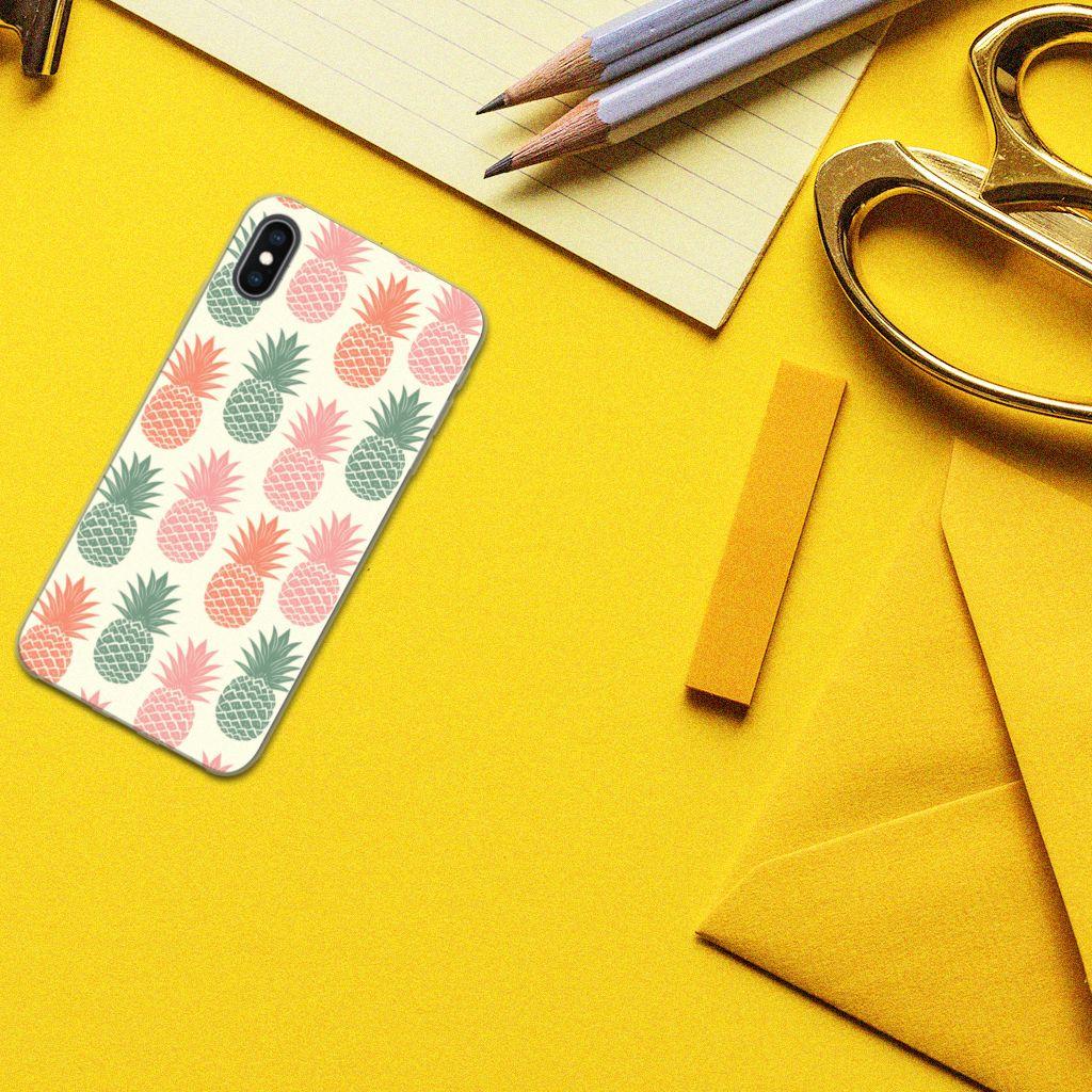 Apple iPhone Xs Max Siliconen Case Ananas