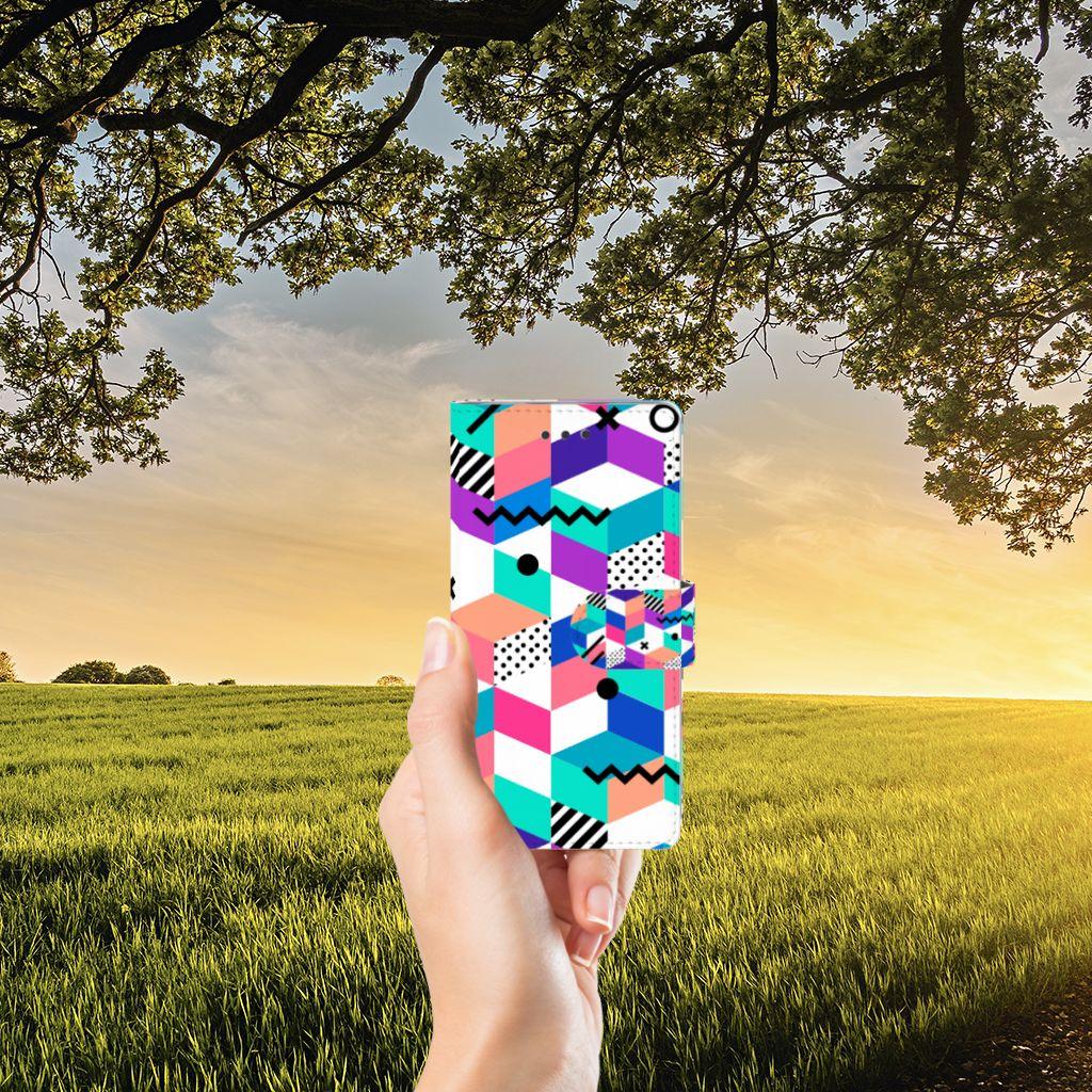 Huawei Ascend P8 Lite Boekhoesje Design Blocks Colorful