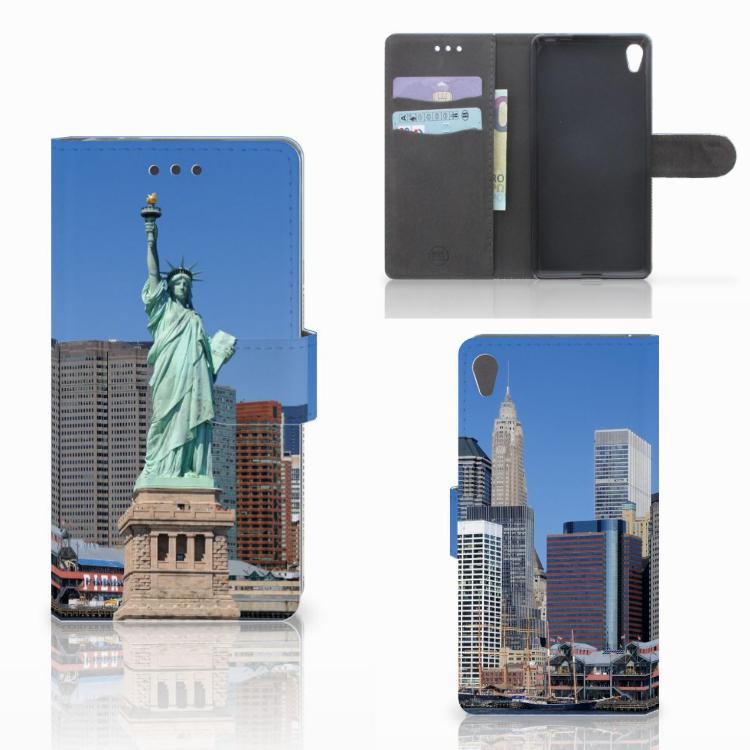 Sony Xperia E5 Flip Cover Vrijheidsbeeld