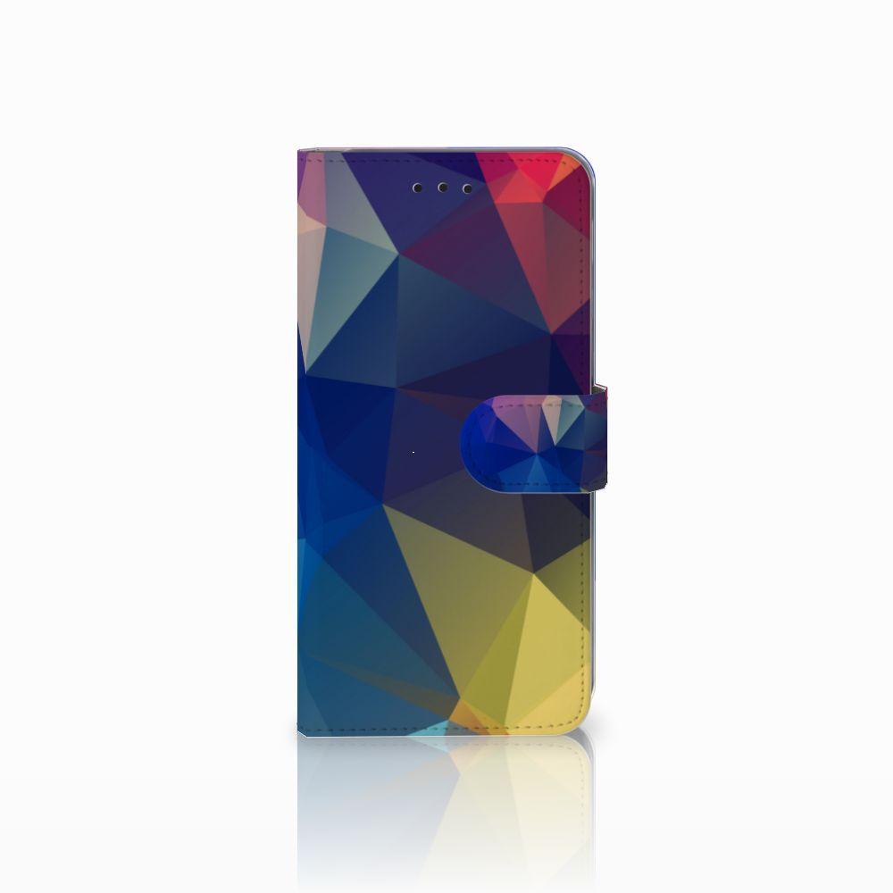 Samsung Galaxy A6 Plus 2018 Bookcase Polygon Dark
