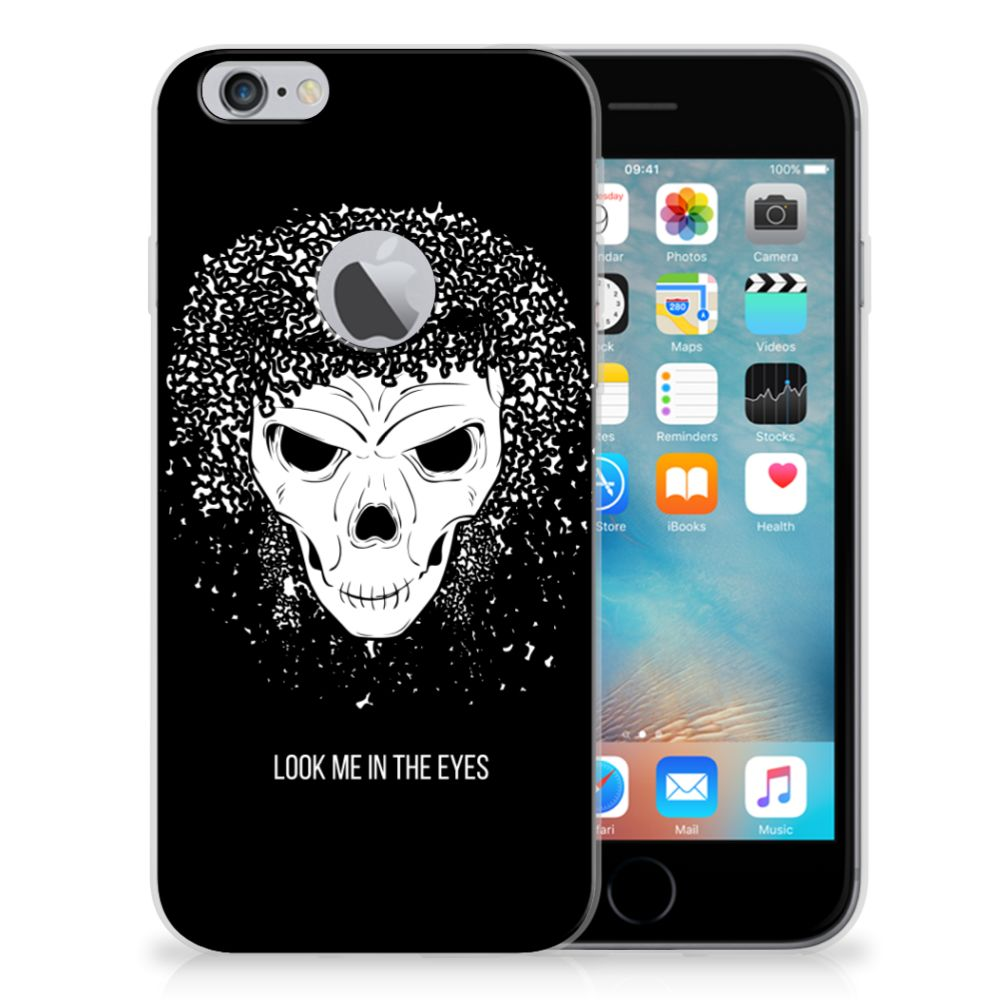 Silicone Back Case Apple iPhone 6 Plus | 6s Plus Skull Hair