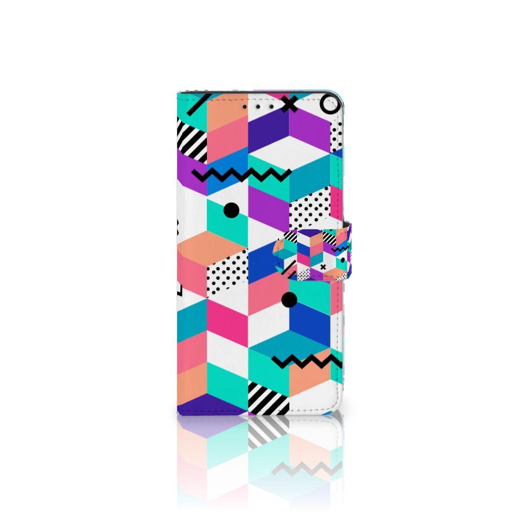 Samsung Galaxy J4 Plus (2018) Bookcase Blokken Kleurrijk