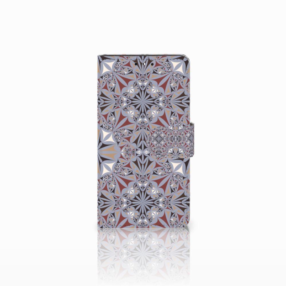 Huawei Y5 | Y6 2017 Boekhoesje Design Flower Tiles