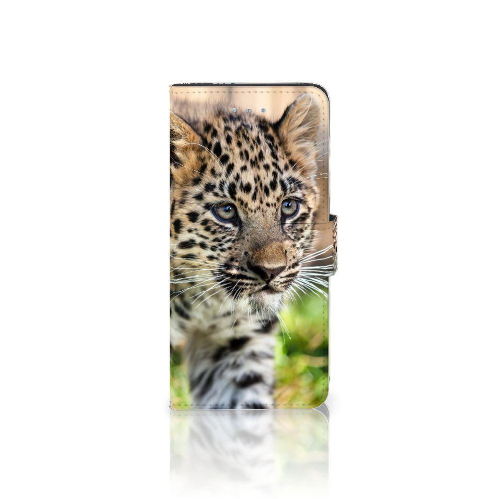 Apple iPhone 6 Plus   6s Plus Uniek Boekhoesje Baby Luipaard