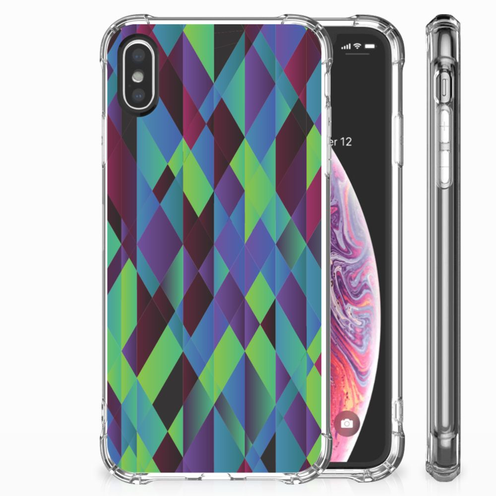 Apple iPhone X | Xs Shockproof Case Abstract Green Blue