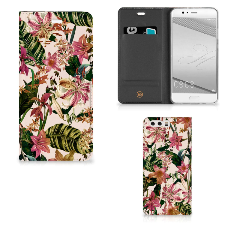 Huawei P10 Plus Smart Cover Flowers