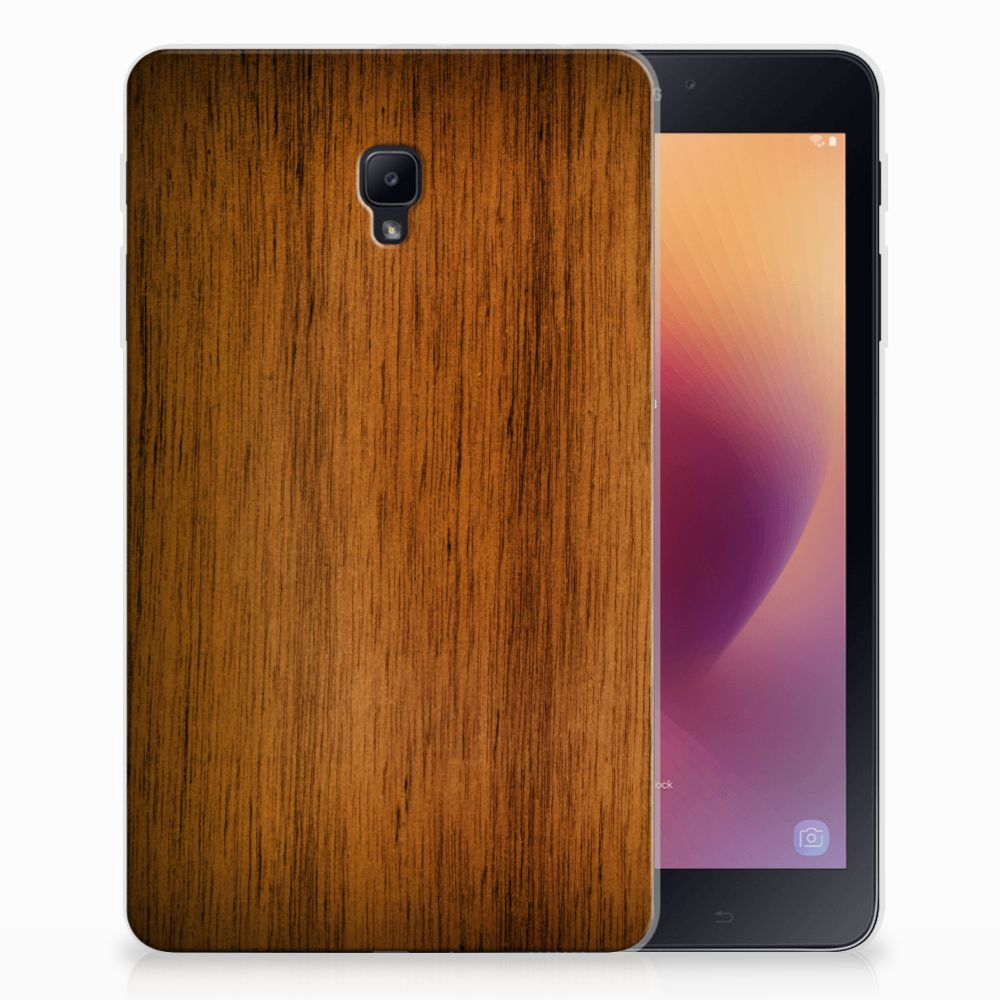 Samsung Galaxy Tab A 8.0 (2017) Silicone Tablet Hoes Donker Hout