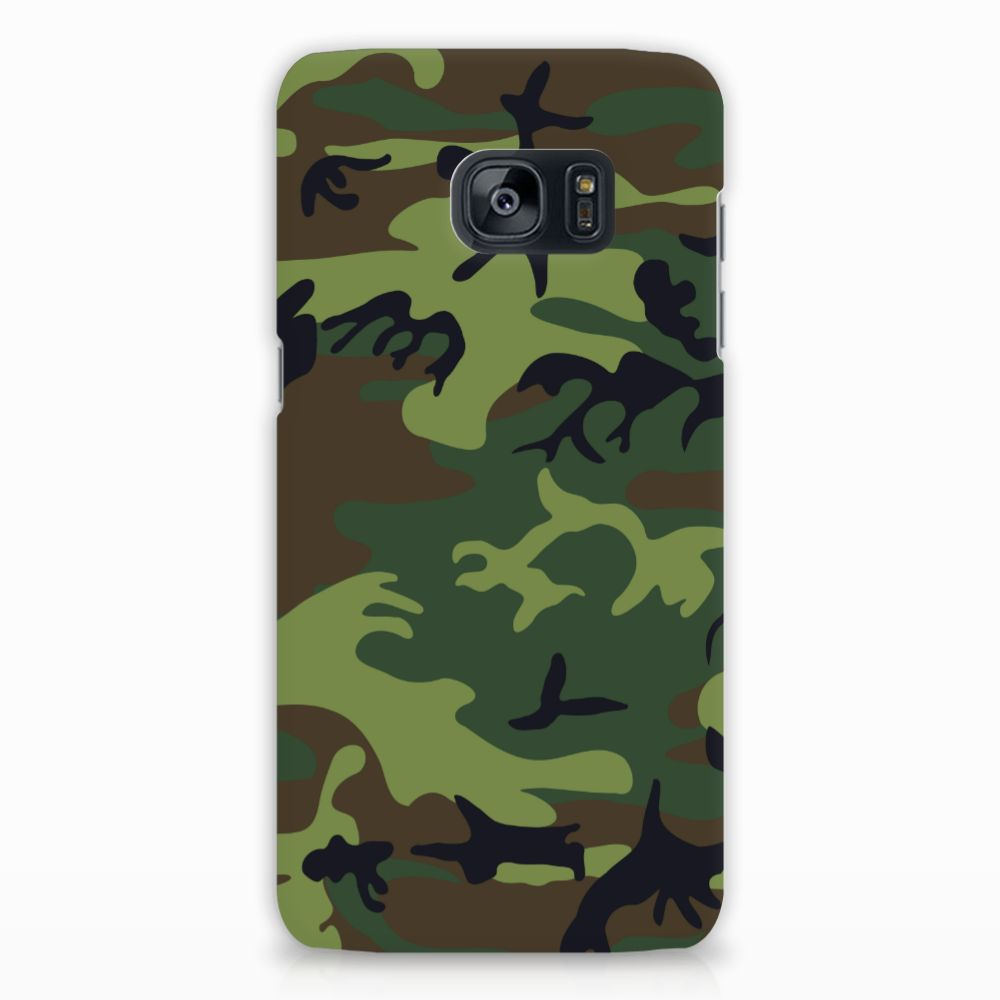 Samsung Galaxy S7 Edge Hardcase Hoesje Design Army Dark