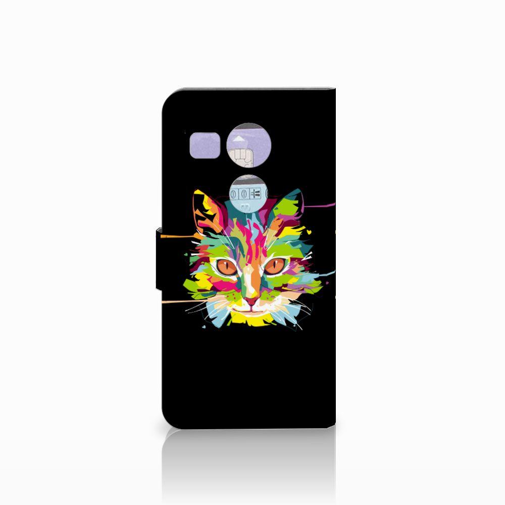 LG Nexus 5X Leuke Hoesje Cat Color