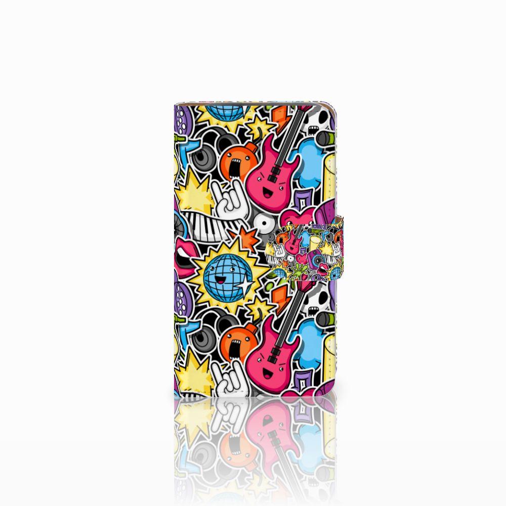 HTC Desire 310 Uniek Boekhoesje Punk Rock