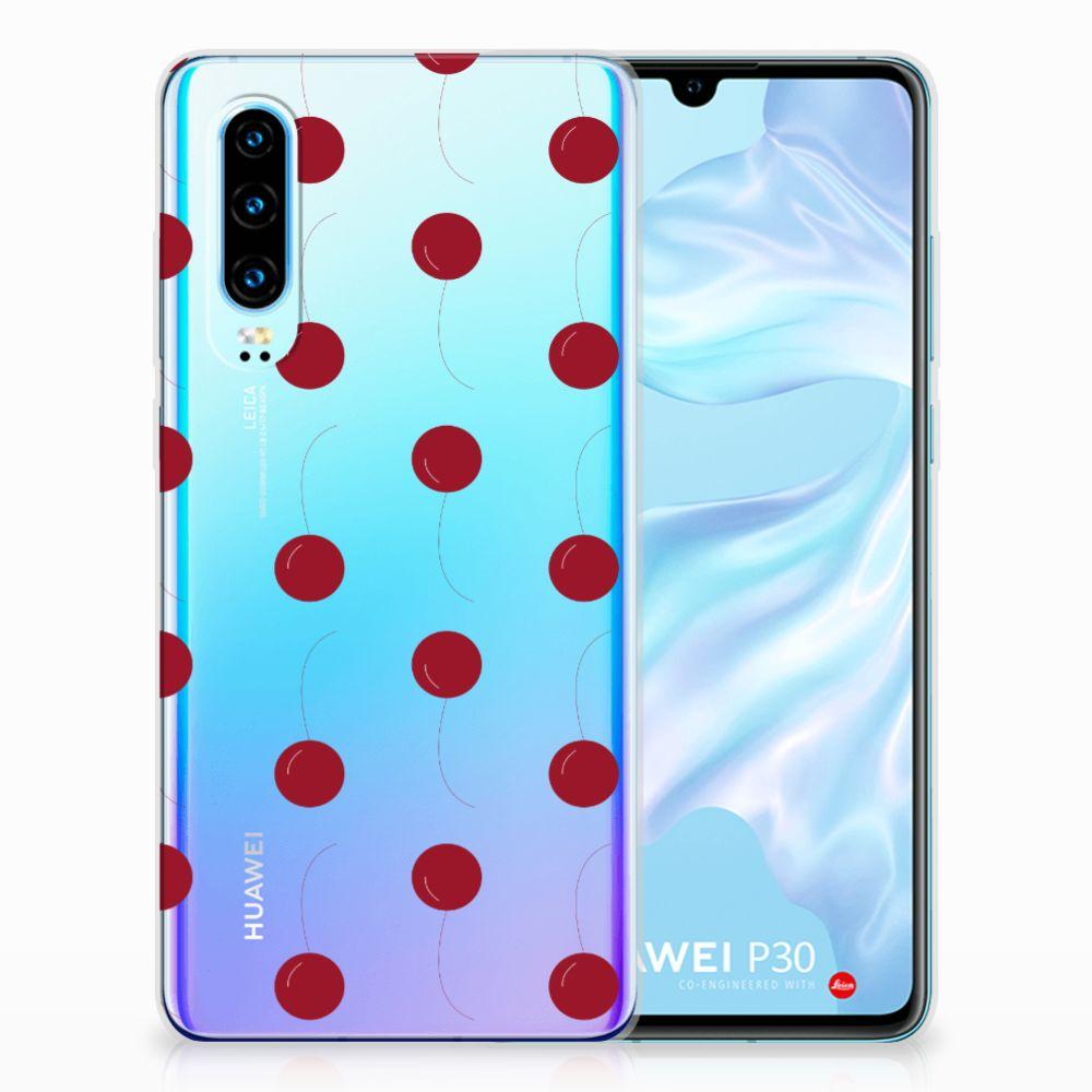 Huawei P30 Siliconen Case Cherries