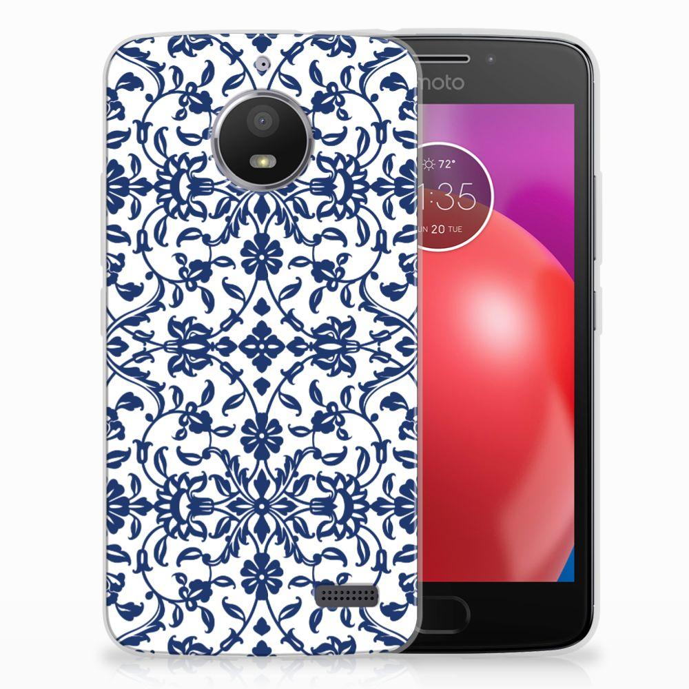 Motorola Moto E4 TPU Hoesje Flower Blue