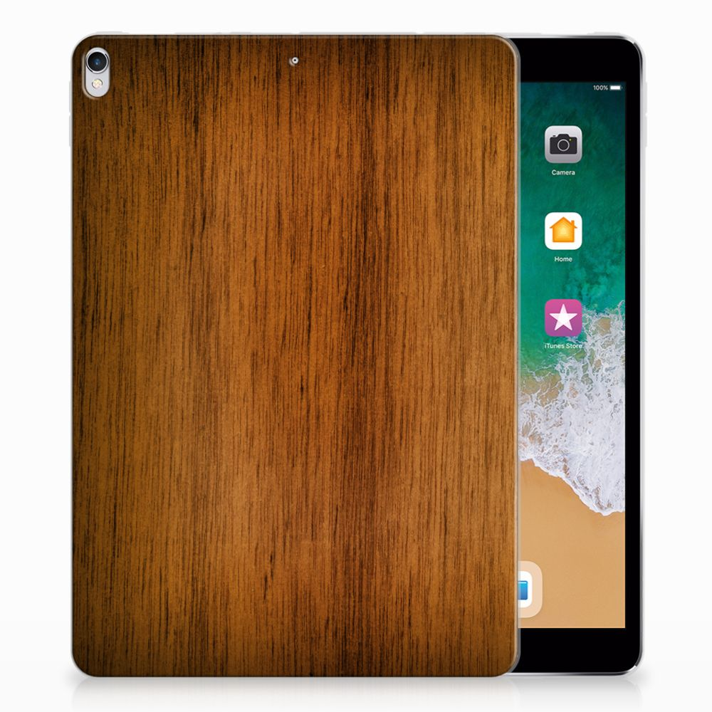 Apple iPad Pro 10.5 Silicone Tablet Hoes Donker Hout