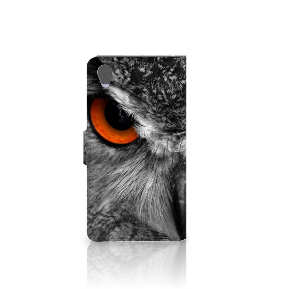 Sony Xperia Z1 Telefoonhoesje met Pasjes Uil