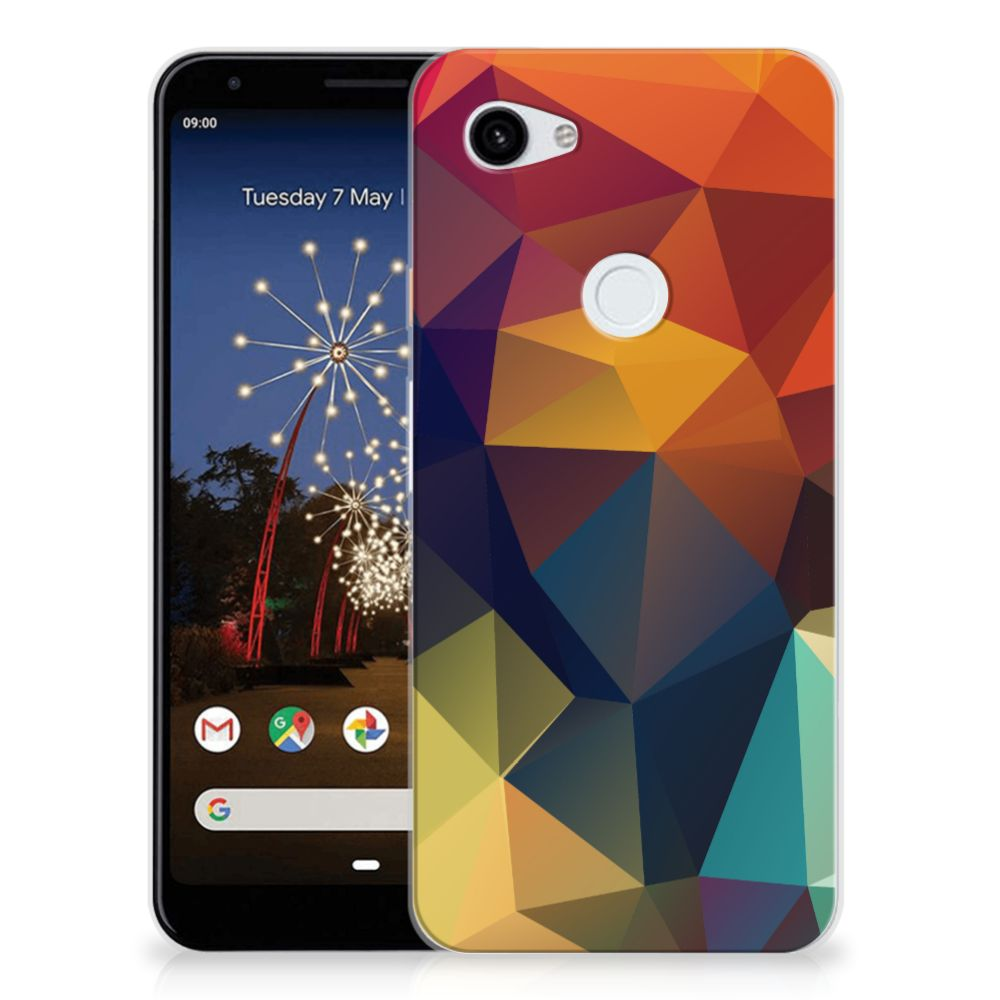 Google Pixel 3A XL TPU Hoesje Polygon Color