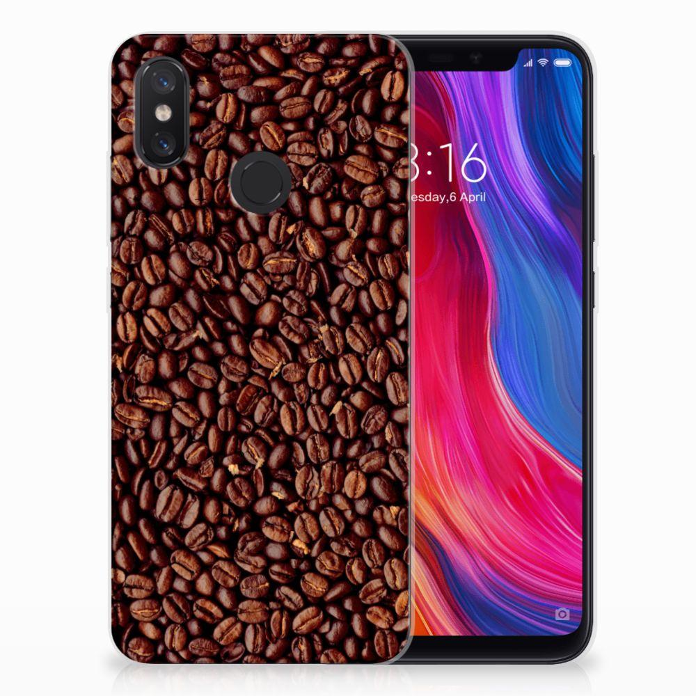 Xiaomi Mi 8 Siliconen Case Koffiebonen