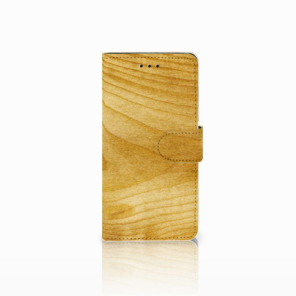Huawei Y5 2018 Uniek Boekhoesje Licht Hout