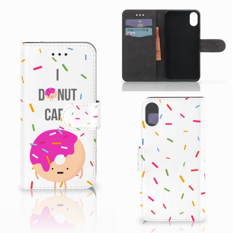 Apple iPhone X | Xs Book Cover Donut Roze