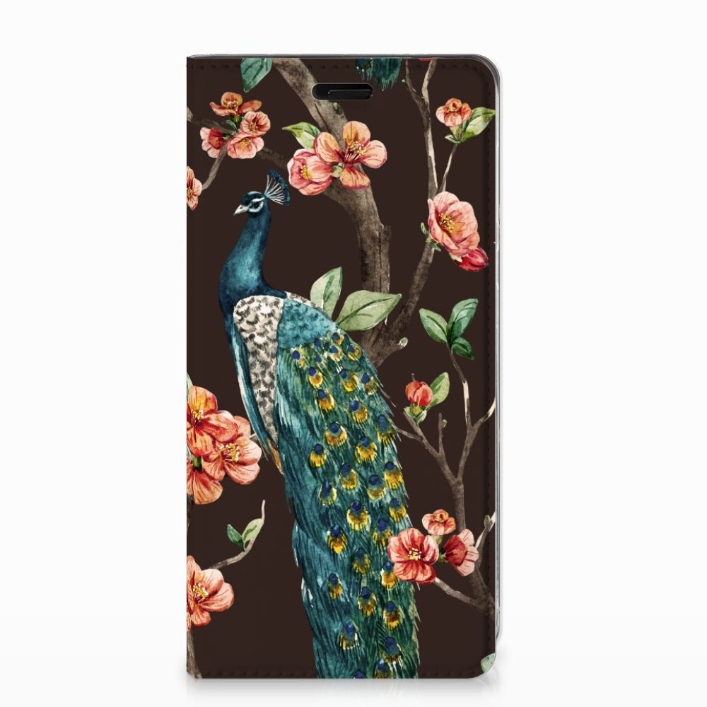 Nokia 8 Hoesje maken Pauw met Bloemen