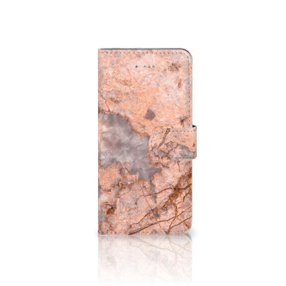 Honor 4A | Y6 Boekhoesje Design Marmer Oranje