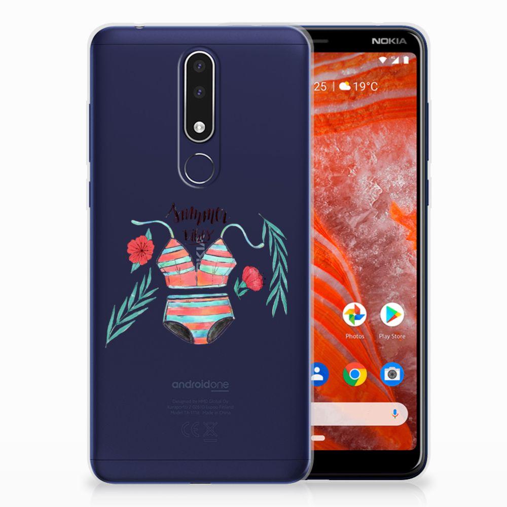 Nokia 3.1 Plus Uniek TPU Hoesje Boho Summer