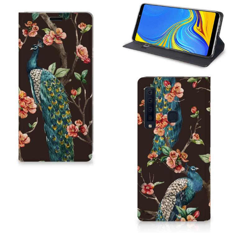 Samsung Galaxy A9 (2018) Hoesje maken Pauw met Bloemen